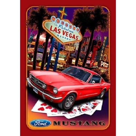 Ford Mustang - Las Vegas Nevada Tin Sign-mightymoo