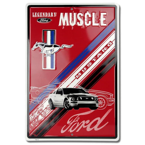 Ford Mustang Legendary Muscle Tin Sign-mightymoo