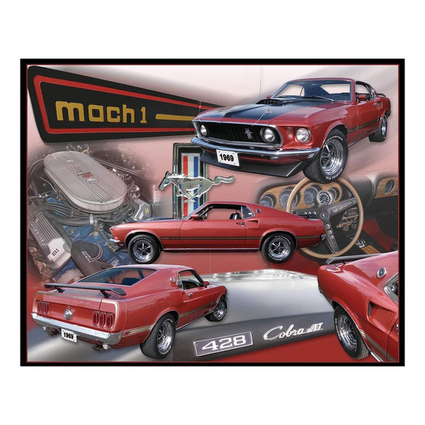 Ford Mustang Mach 1 Collage Tin Sign-Mr Revhead