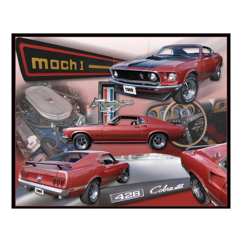 Ford Mustang Mach 1 Collage Tin Sign-mightymoo