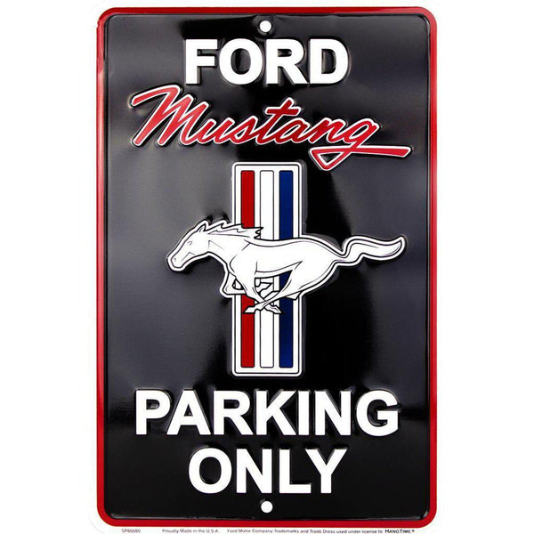 Ford Mustang Only Parking Tin Sign-Mr Revhead