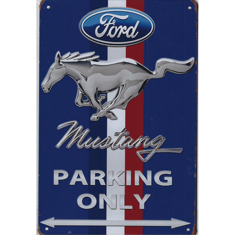 Ford Mustang Parking Only Tin Sign-mightymoo