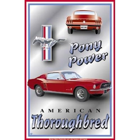 Ford Mustang Pony Power Tin Sign-mightymoo
