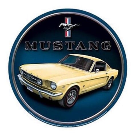 Ford Mustang Round Tin Sign-Mr Revhead