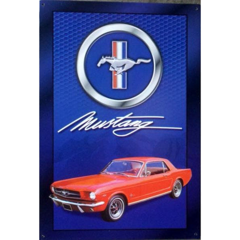 Ford Mustang Signature Tin Sign-Mr Revhead