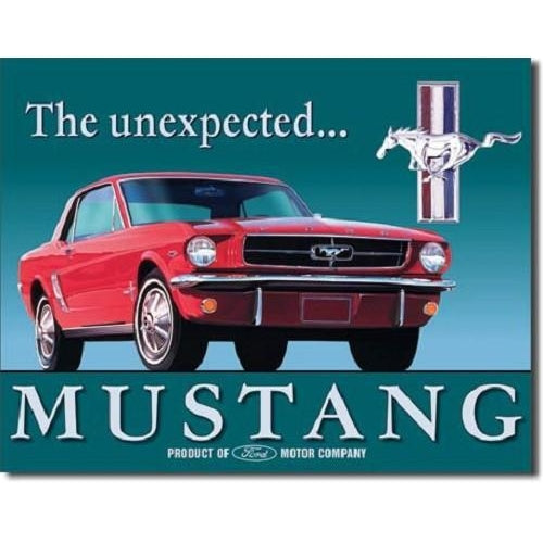 Ford Mustang The Unexpected Tin Sign-Mr Revhead
