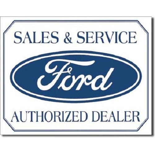 Ford Sales & Service Tin Sign-Mr Revhead