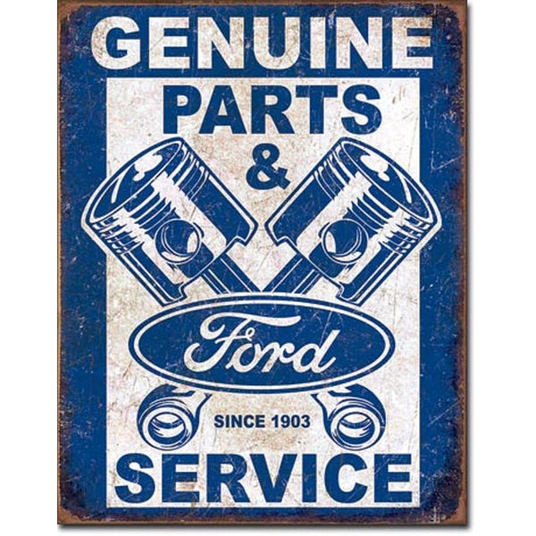 Ford Service Pistons Tin Sign-Mr Revhead