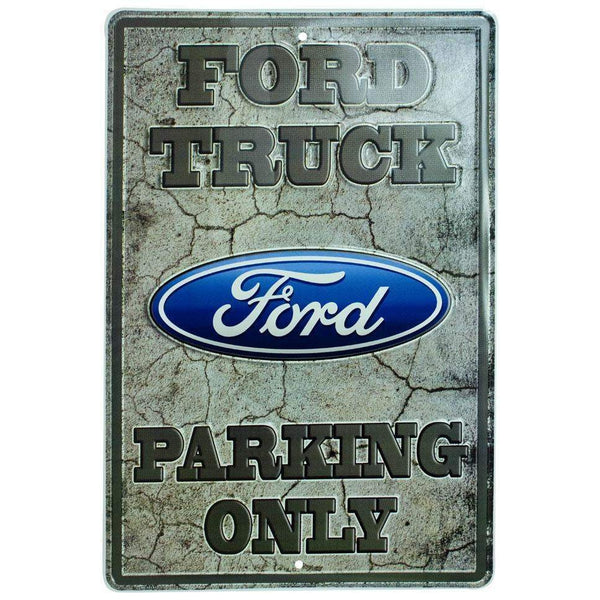 Ford Truck Parking Only Tin Sign-Mr Revhead