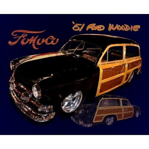 Ford Woodie Tin Sign-mightymoo
