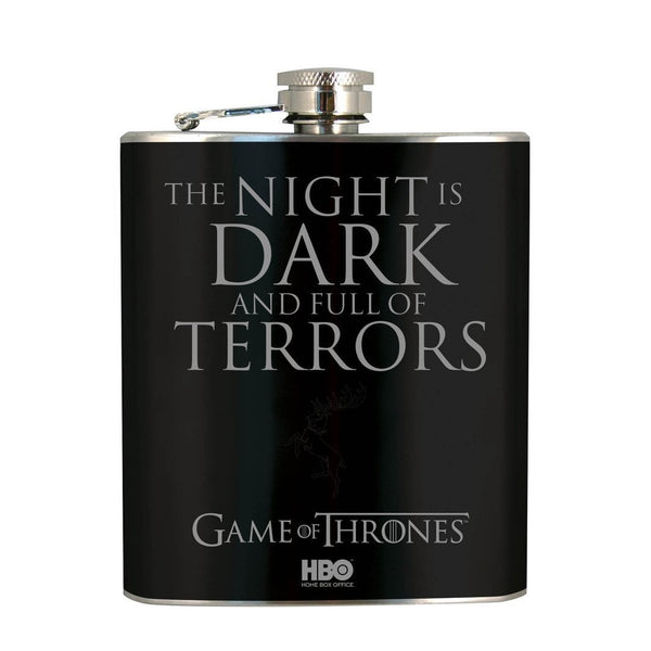 Game Of Thrones Hip Flask - The Night Is Dark and Full of Terrors-Mr Revhead