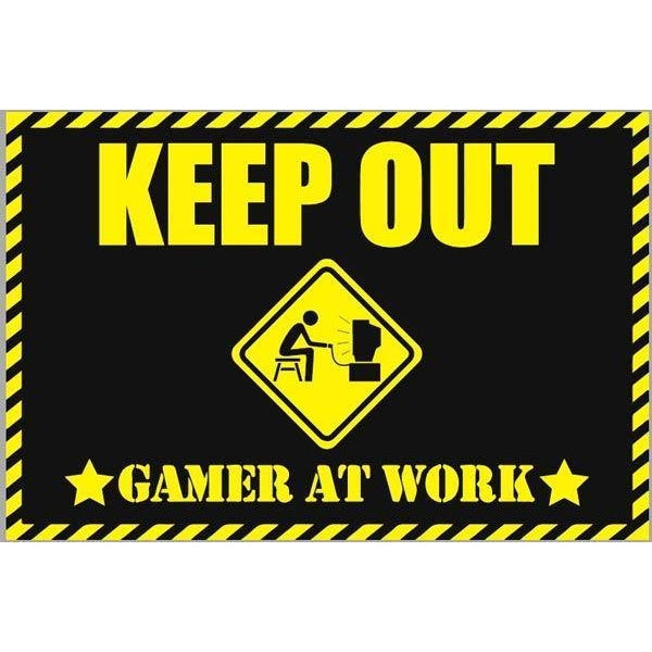 Gamer At Work Quirky Doormat-Mr Revhead