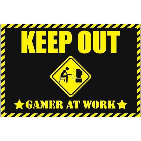 Gamer At Work Quirky Doormat-mightymoo