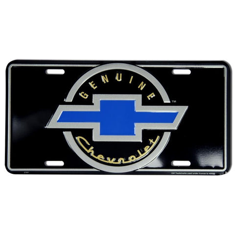 Genuine Chevrolet Black Metal License Plate-Mr Revhead