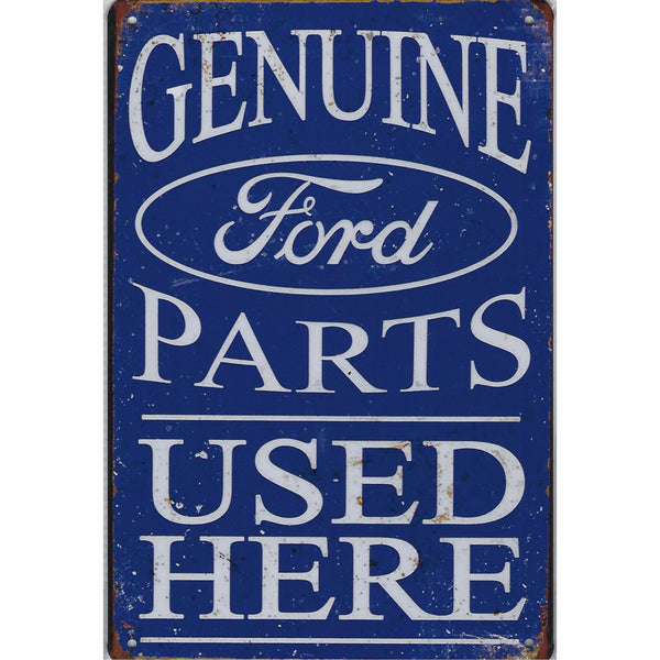 Genuine Ford Parts Used Here Tin Sign-Mr Revhead