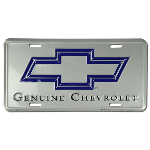 Genuine Silver Chevrolet License Plate-Mr Revhead
