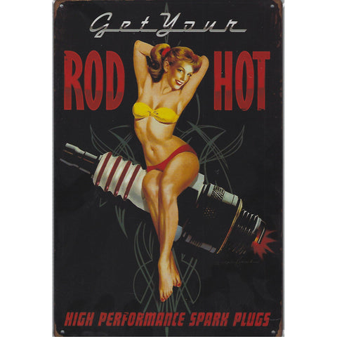Get Your Rod Hot Tin Sign-Mr Revhead