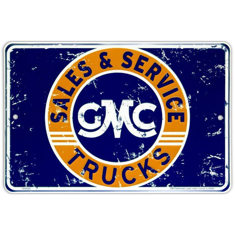GMC Trucks Sales & Service Tin Sign-Mr Revhead
