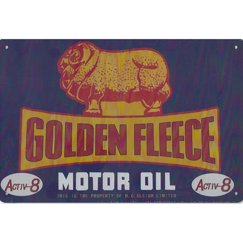 Golden Fleece Oil Tin Sign-Mr Revhead