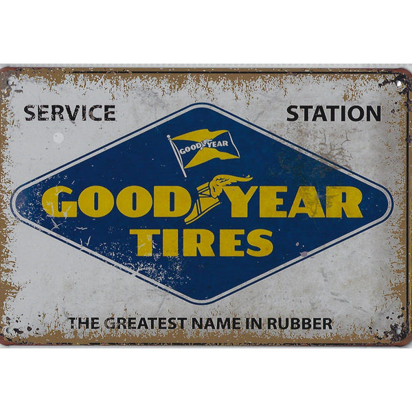 Goodyear Tires Tin Sign-Mr Revhead