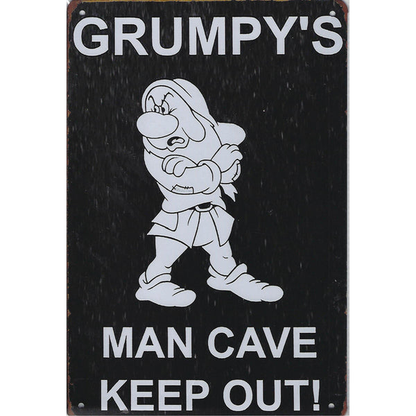 Grumpy's Man Cave Tin Sign-Mr Revhead