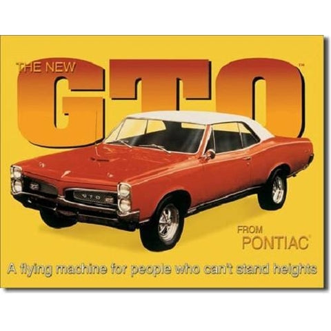 GTO From Pontiac Tin Sign-Mr Revhead
