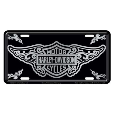 Harley Davidson Bar & Shield with Filigree Design License Plate-Mr Revhead
