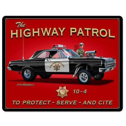 Highway Patrol Tin Sign-Mr Revhead