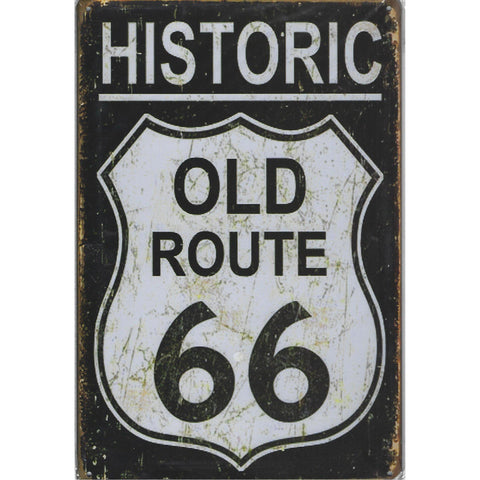 Historic Old Route 66 Tin Sign-Mr Revhead