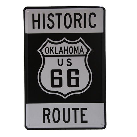 Historic Route 66 Tin Sign-Mr Revhead
