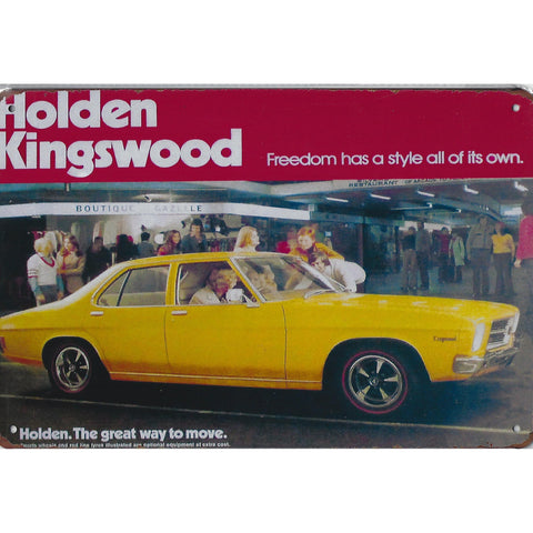 Holden Kingswood Advert Tin Sign-Mr Revhead