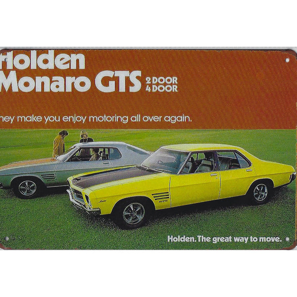 Holden Monaro GTS Tin Sign-Mr Revhead