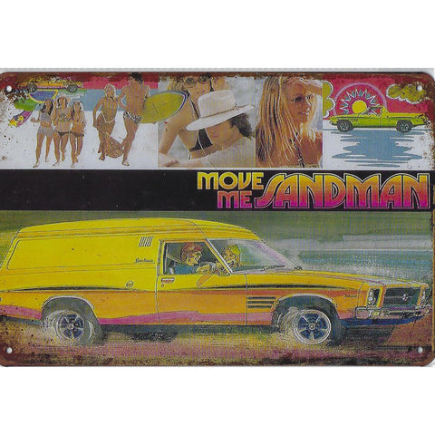 Holden Move Me Sandman Tin Sign-Mr Revhead