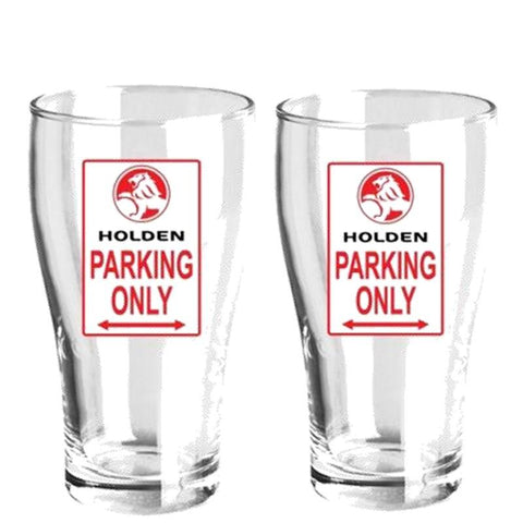 Holden Parking Only Beer Glasses-Mr Revhead