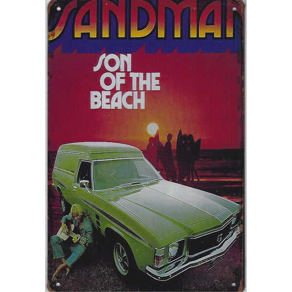 Holden Sandman Son Of A Beach Tin Sign-Mr Revhead