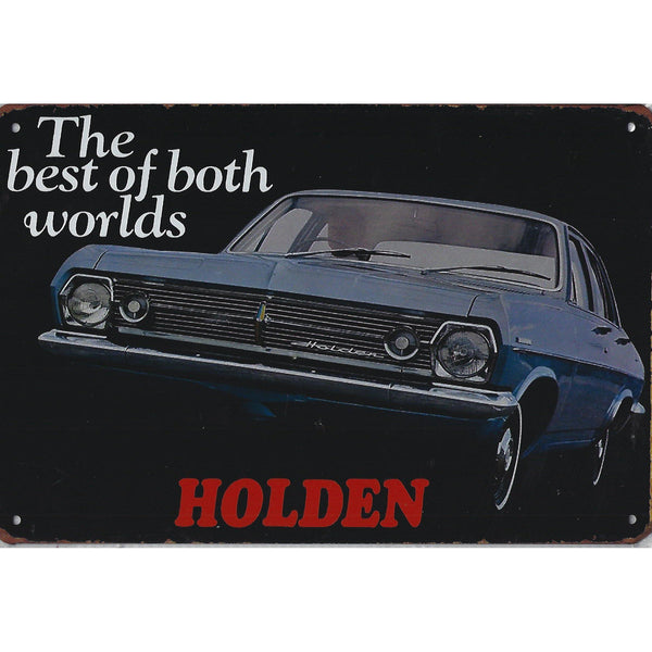 Holden The Best Of Both Worlds Tin Sign-Mr Revhead