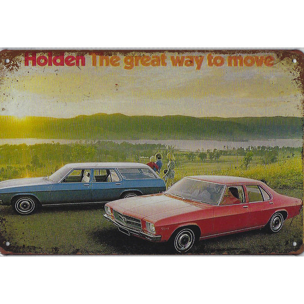 Holden The Great Way To Move Tin Sign-Mr Revhead