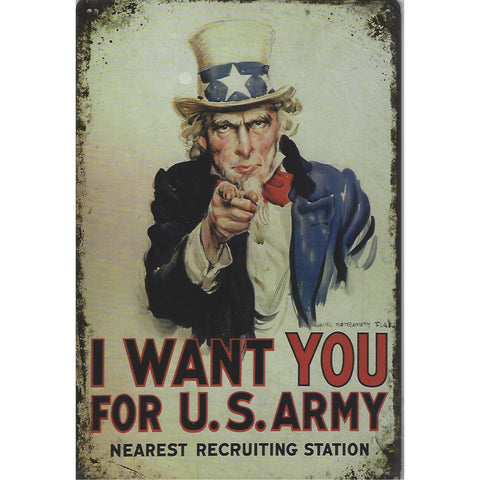 I Want You US Army Tin Sign-Mr Revhead