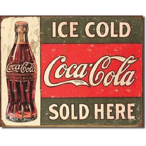 Ice Cold Coca Cola Tin Sign-mightymoo