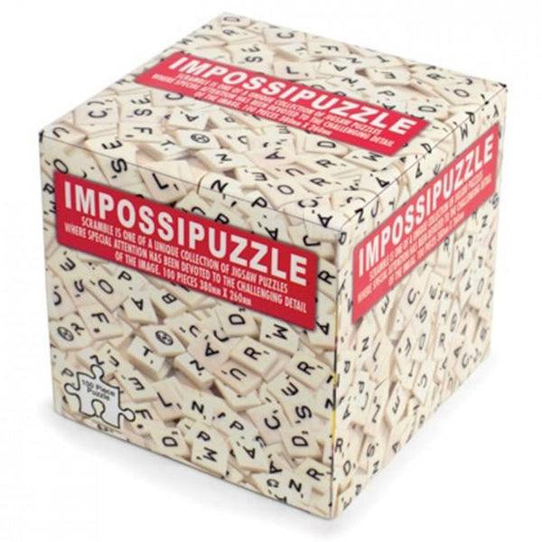 Impossipuzzles Scramble Scrabble – 100 Piece Jigsaw Puzzle-Mr Revhead