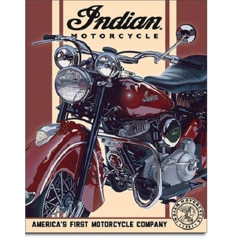 Indian - 1948 Chief Tin Sign-mightymoo