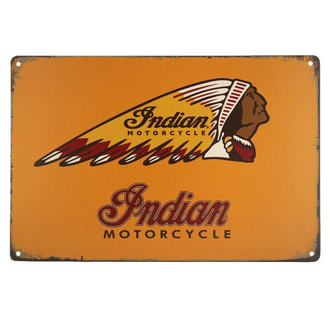 Indian Motorcycle Chief Tin Sign-mightymoo