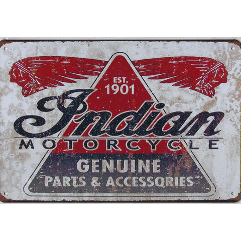 Indian Motorcycle Genuine Parts Tin Sign-Mr Revhead