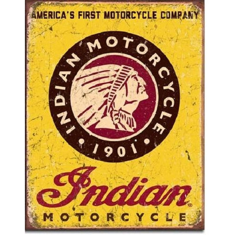 Indian Motorcycles Since 1901 Tin Sign-Mr Revhead