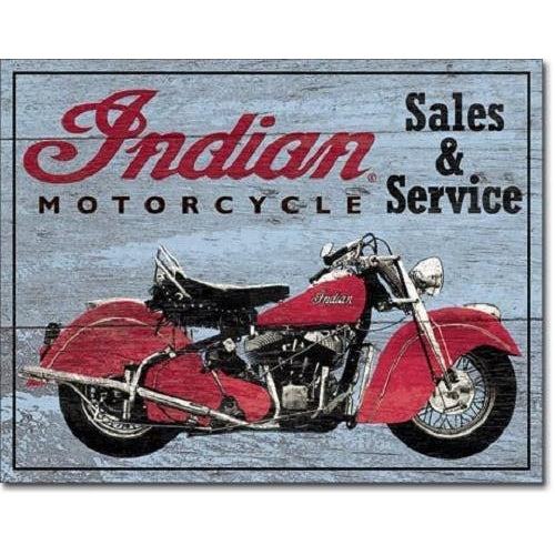 Indian Sales and Service Tin Sign-Mr Revhead
