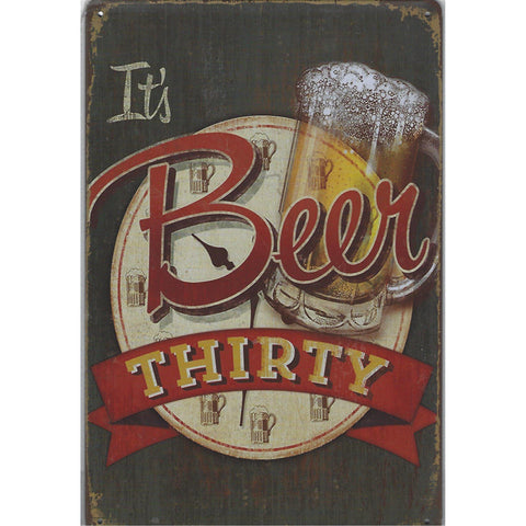 Its Beer Thirty Tin Sign-Mr Revhead