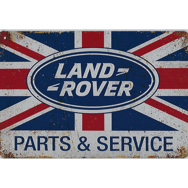 Land Rover Parts & Service Tin Sign-Mr Revhead