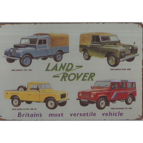 Land Rover Tin Sign-Mr Revhead