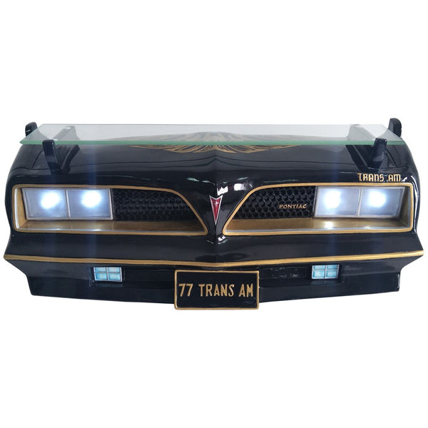 1977 Pontiac Trans Am Decorative Wall Shelf (Working Headlights)-Mr Revhead
