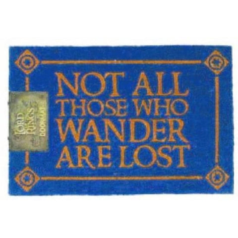 Lord Of The Rings - Not All Those Who Wander Doormat-mightymoo